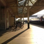 Chippenham Station in the evening light.