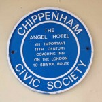 The Angel Hotel - one of  Chippenham's important resting places for travellers en-route to Bristol and London.